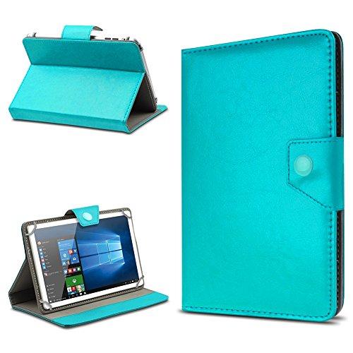 UC-Express Tasche Schutz Hülle für TrekStor SurfTab xintron i 10.1 Tablet Case Stand Cover Farbauswahl, Tablet Modell für:BLAUPUNKT Endeavour 1000 WS, Farben:Türkis