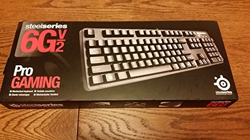 SteelSeries 6Gv2 Wired PS/2, USB Mech Cherry MX rot (Ps 2 Wired Keyboard)