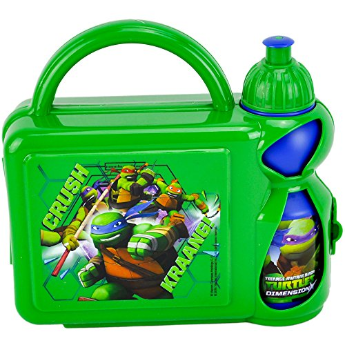 Image of Teenage Mutant Ninja Turtles F108307 Hard Case Lunch Box with Bottle