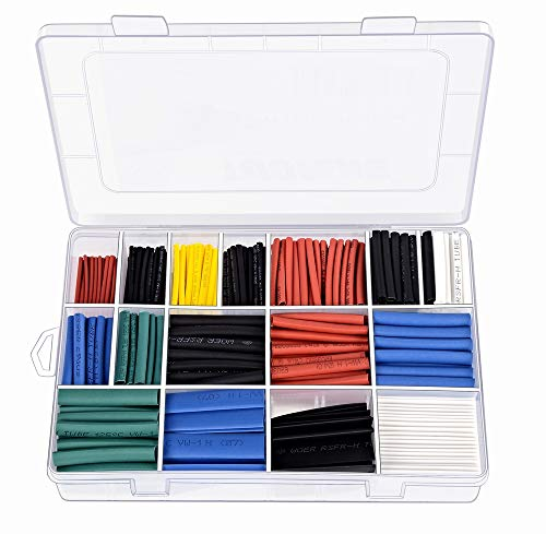 TUOFENG 670 piezas Tubo termoencogible 2: 1,6 colores 12 Tamaños Tubo aislante...