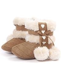 Zapatos bebe invierno, Amlaiworld Botines De Bebé Niña niño Botas de nieve Calzado recién nacido cálido (11 / 0-6Mes, Caqui)