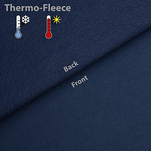 Beautissu Thermovorhang Amelie 140×245 cm Ösen-Schal Vorhang blickdicht & Verdunkelung – isolierende Gardine in Blau - 6