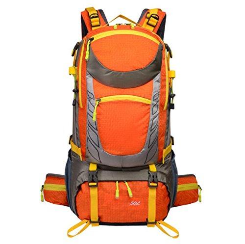 Wandern Rucksäcke Outdoor Interne Rahmen Bergsteigen Tasche Wasserdicht Camping Rucksack,Orange Orange