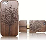 Vandot Iphone 6 Plus / 6S Plus 5.5 Pouces Coque Cover Case Unique Handmade Natural Wood Hard en Bois Tree Arbre Patterns of Wooden shell Couvrir Housse Protection Couverture Etui Skin Coquille