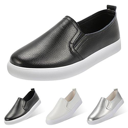 Slip-onLow-Top SlipperLoafer Schuhe Lederimitat Bequem Sneaker (Schuh-schnürsenkel-lichter)