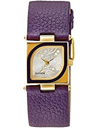 Sonata Yuva Gold Analog Silver Dial Women's Watch -ND8919YL03AC