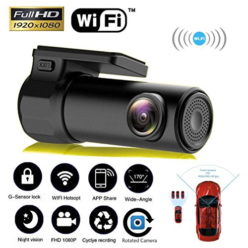 Alftek 1080P Car Camera Wifi DVR Dash Cam Recorder Camcorder Night Vision Cam