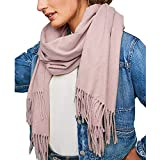 Kelry Winter Monochrome Nachahmung Kaschmir Doppel Fransen Langen Schal Frauen Verdicken Warme Vielzahl Damenschal Weicher Tuch (H, 175cm)