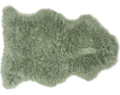 Pixieland Schaffell Teppich Salbei Grün hergestellt in Devon UK, salbeigrün, Einzelbett (Salbei Grün-teppich)