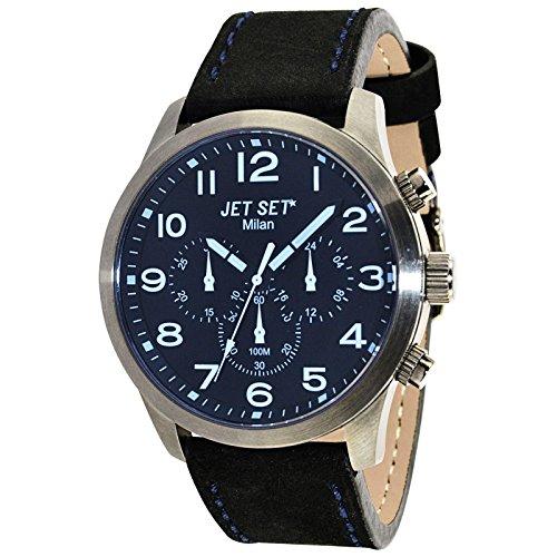 Jet Set Men's Watch Milan black/silver/blue J6480G-217