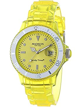 MADISON NEW YORK Unisex-Armbanduhr Candy Time Jelly Mix Analog Quarz Plastik U4631-02/1