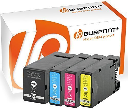Bubprint 4x Druckerpatronen kompatibel für PGI-1500 XL PGI-1500XL PGI 1500 XL 1500XL Canon Maxify MB2350 MB2050 Multipack