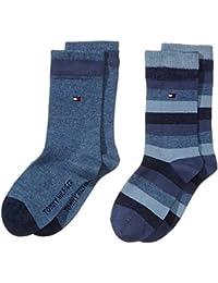 Tommy Hilfiger - Th Kids Basic Stripe Sock 2 Paia, Calze da bambini e ragazzi