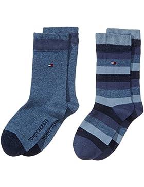 Tommy Hilfiger Jungen Socken Th Kids Basic Stripe Sock 2p
