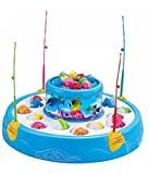 #4: Fish Catching Game Big with 26 Fishes and 4 Pods, Inclues Music and Lights Assorted Color