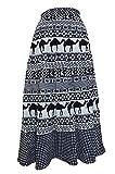 CHANCHAL FASHION Women's Cotton Skirt(ChanchalWrapSkrit1002, Black, Free Size)