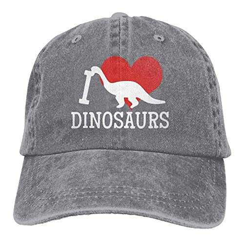 Sweet grape Baseball Jeans Cap I Love Dinosaurs Unisex Golf Hats Adjustable Baseball Cap