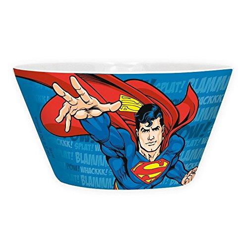 DC Comics – Cerámica Tazón de cereales – Cuenco Superman Flying – Logo