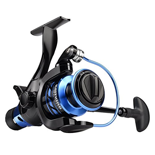 NEW! KastKing Pontus Bait Feeder Spinning Reel for Live Lining Fishing 9+1 Ball Bearings Up to 26.5 Lbs/ 12 Kg drag. (KastKing Pontus, Modell 5000) (Widow Black Fisch)