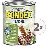 Gardopia Sparpaket: Bondex Teak-Öl farblos 900, Schutz, Pflege & Farbauffrischung, 2 x 750 ml