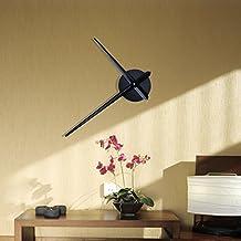 URAQT - Meccanismo di movimento per orologio, con 2 lancette, colore: Nero e Bianco, nero, Taglia unica