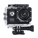 OverDose Mini 1080p Full HD-DV Sports Camcorder Car wasserdichte Tätigkeits-Kamera-Camcorder (Schwarz)
