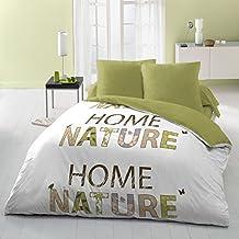 Home Passion 54097 Parures de couette Home Nature 3 Pièces Microfibre Multicolore 220 x 240 cm