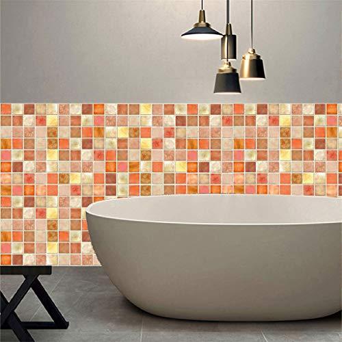 Kreative Mosaikfliesenaufkleber kreative Persönlichkeit Wandaufkleber Home Wohnzimmer Schlafzimmer Küche Wandaufkleber ABsoar
