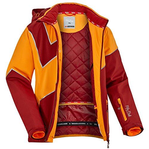 Fifty Five Extrem Skijacke für Herren Saint Andrews Rot Orange L Warme Snowboard Jacke Winterjacke