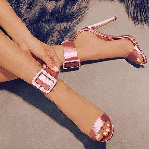 Zormey 2017 Nouvelles Femmes Sandales D'Été 5-8Cm Taille 36-41 High Heels Sandales Sangle De Boucle De La Soie Classique Concis À Bride Chaussures -5 9