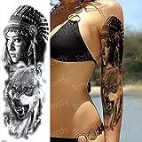 3 Piezas Tatuaje Manga patrón Tatuaje Manga Tatuaje Manga Larga Tatuaje Mujer Halloween Primer Plano Chica