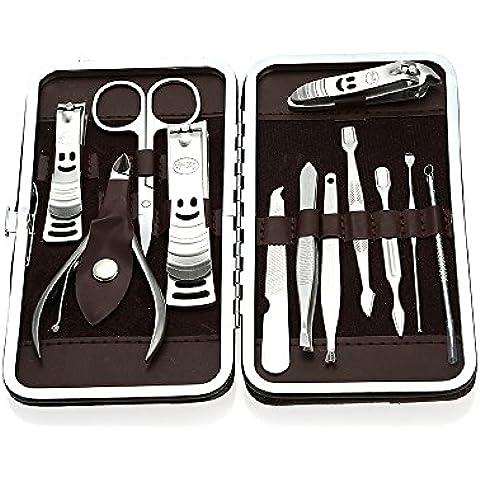 Anself - Kit con accessori taglia unghie per nail art, in acciaio Inox 3#