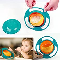 RIANZ Spill Proof Gyroscopic Bowl For Kids Smooth, 360 Degrees Rotation With Highly Durable Material For Baby Kids (Color May Vary)