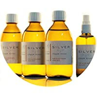 Preisvergleich für PureSilverH2O 850ml kolloidales Silber (3X 250ml/25ppm) + Spray (100ml/25ppm) Reinheit & Qualität seit 2012