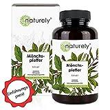 naturely® Mönchspfeffer Extrakt - Einführungspreis - 180 Kapseln - Original Vitex Agnus Castus - 10mg Extrakt je Kapsel - 6 Monats Vorrat, vegan, laborgeprüft, hergestellt in Deutschland
