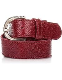 EVA LOPEZ Cinturón Mujer Piel Rojo - Casual Mujer