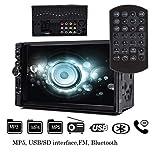 Autoradio touch screen 17,8cm doppio DIN auto video Remote Control MP5lettore digitale 2DIN MP3MP4in Precipitare auto radio Car audio video Player con Bluetooth supporto SD Card