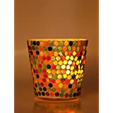 Afast New Style & Design Candle Tealight Holder Hand Decorated With Colorful Chips & Beads For A Romantic Colorful & Magical Lighting Effects-VZ15 - B075QFCT5S
