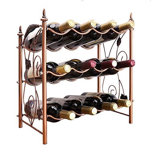 Weinregale Bodenständer, 12-Flaschen Metall, Kleiner Unterbau-Organizer-Halter