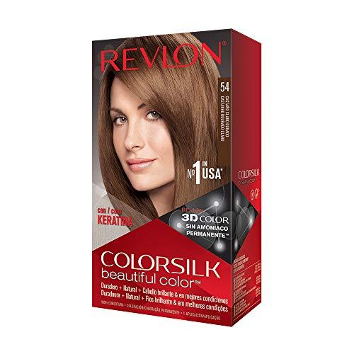 Revlon ColorSilk Tinte de Cabello Permanente Tono #54 Castaño Dorado Claro
