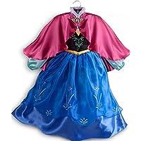 Autentico negozio Disney - Vestito bimbi Anna Frozen - costume - Il Regno di Ghiaccio (Autentica Degli Accessori Del Costume Disney)