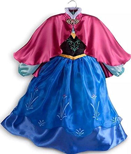Autentico negozio disney - vestito bimbi anna frozen - costume - il regno di ghiaccio - taglia 11 - 12 anni