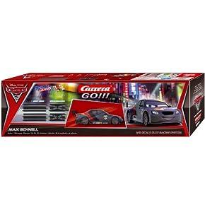 Carrera 20061654 Carrera GO!!! Disney/Pixar Cars 2 - Set de ampliación y vehículo Max Schnell Importado de Alemania