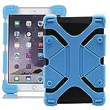 Generica - Funda Universal Silicona Soporte para Tablet de 9 a 12 Pulgadas Azul