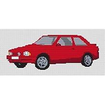 Ford XR3 Escort patrón de punto de cruz – rojo