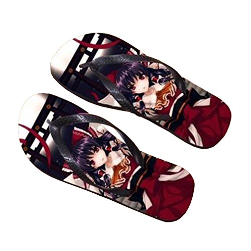 Bromeo TouHou Project Anime Unisex Flip Flops Zehentrenner Flip Pantoffeln 752