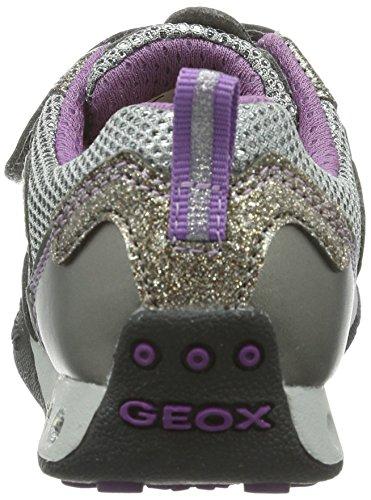 Geox Jr New Jocker Girl, Baskets fille Gris (Dk Grey)
