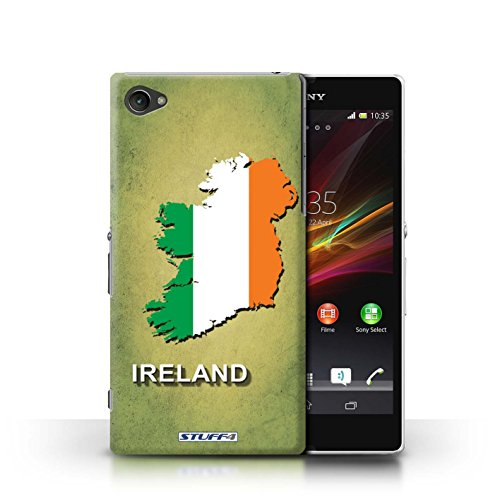 Kobalt® Imprimé Etui / Coque pour Sony Xperia Z1 Compact / Tchèque/Czechian conception / Série Drapeau Pays Irlande/irlandaise