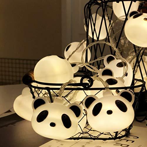 Weihnachten Panda-Form-LED Kleine Schnur-Licht-Batterie/USB-dekorative Lichter Zelt Beleuchtung Raumaufteilung Geburtstag Fernhängelampe 3M / 6M (Size : 6m 40 lights - battery+remote)