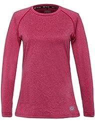 T-shirt de course thermique léger à col rond pour femme Time to run